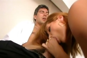 exquisite milf vaginas a bellboy into her room,