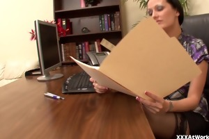 hailey youthful ass fucked in the office