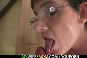 shlong hungry granny seduces her son in law