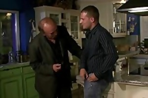 old hubby watches a chap bangs his young wife