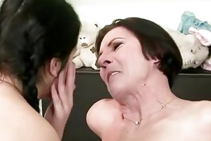 dark haired lesbians young and old