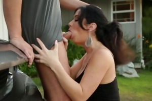 mommybb jayden james sucks a ramrod on her porch