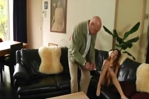 horny young girl is fucking his old spouse