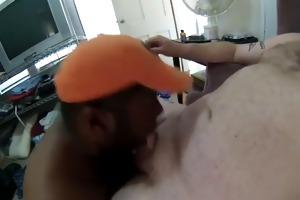 white dad facefucks darksome mouth good