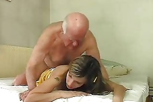 hot blond bunny shags with old mature hunk