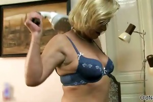 nasty old lesbo receives sexually excited making