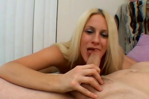 young blonde show how good she suck rod and fuck-1