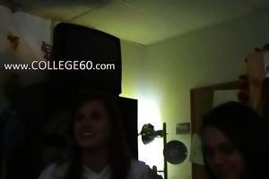 youthful college students enjoying banging