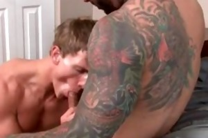 two muscled homosexual studs fucking part5