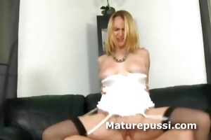 older hot golden-haired fucks younger boy with a