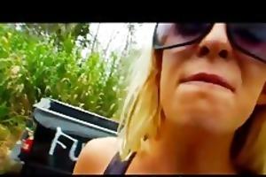 crazy blonde exgirlfriend smashes her mans truck