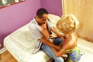 sweet golden-haired older blowjob