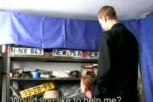 cock sucking mechanic and customer