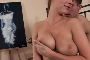 busty ponytailed girl screwed