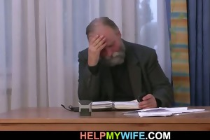 old man pays him to fuck his juvenile wife