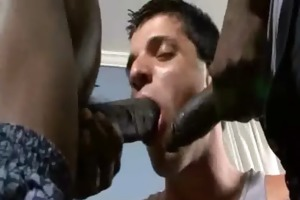 darksome gay boys fuck white juvenile dudes
