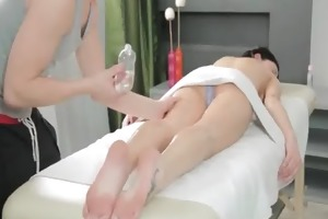 flawless massage tourn into hard tight pussy fuck