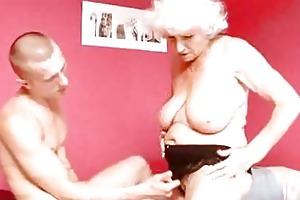 mature granny betty copulates young penis