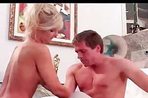 mamma gets butt fucked and biggest boobs jizzed