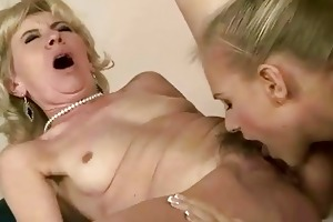 young girl licking old cum-hole