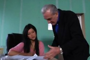 old teacher gets a sex break from juvenile student