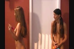 sexy lesbians let behind the scenes as they shoot