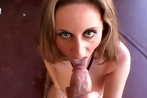 kitty suck a big white cock