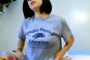 non-professional webcam girl having enjoyment