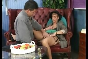 old chick fucking and engulfing an old schlong