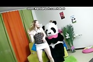 teddy bear with a pink fake penis fuck girl