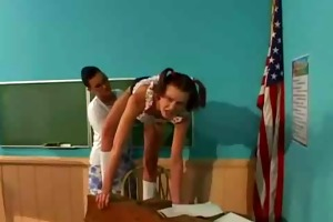student fucks teacher with strapon