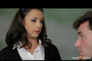 cute breasty school teacher in sexy uniform