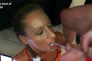 young bukkake whore is the ultimate cum drinking