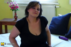 busty old mother dreaming of young shlong
