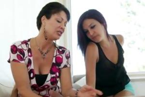 teens mama teaches her to suck schlong