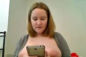 large titty mum bathroom striptease