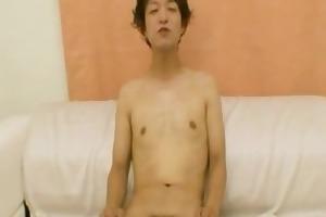 kazuyuki adachi - older japanese fellow wanking