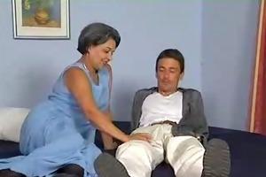 granny in stockings likes schlong