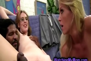 blond milf charlee pursue helps daughter to do