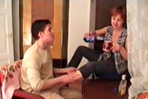 drunk mama and son filmed by father