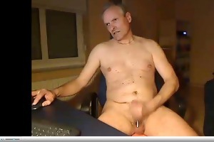 dad wanking groaning with hot cum