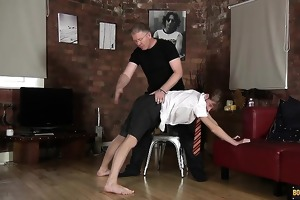 a riding crop, a wooden spoon and a flogging hand