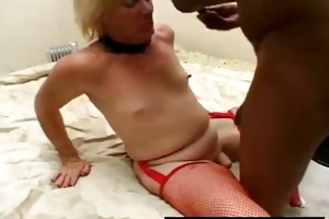 young lady-boy painfully fucked in her mouth and