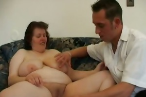 younger guy dildos old womans gazoo and copulates