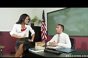 big tit brunette hair latin school teacher in