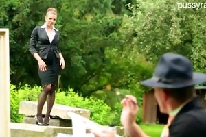 picture ideal - hot milf fucked outdoor with an