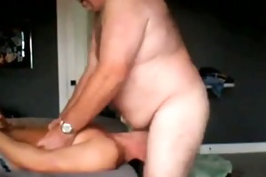 young sub deepthroats large dom daddy once more