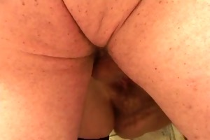 corpulent old wench receives drilled