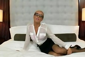 blonde secretary acquires fucked in her a-hole