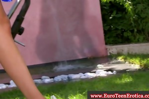 juvenile euro amateur outdoor masturbation